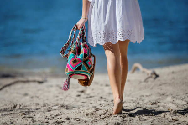 torebka kolorowa na plaże