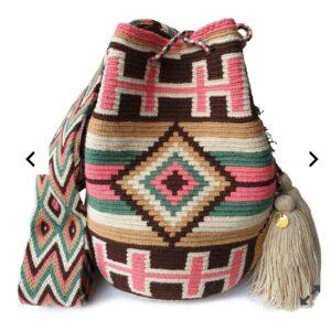 etniczna torebka z pomponami