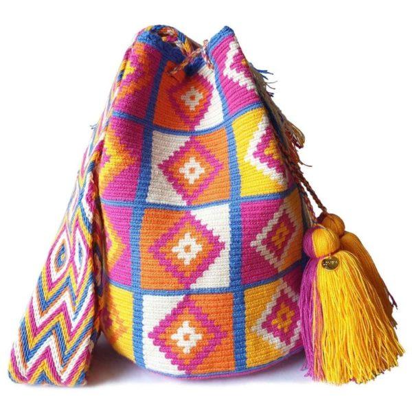 torebka boho mochila ręcznie pleciona
