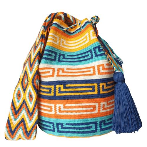 kolorowy worek boho ręcznie robiony mochila