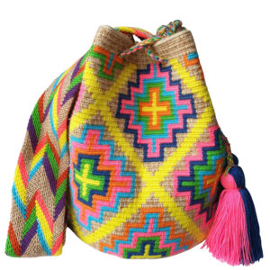 boho torebka w etniczne wzory z frędzlami