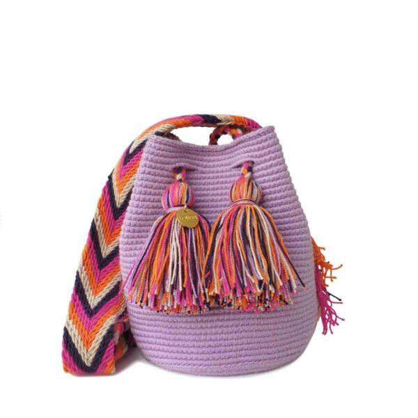 fioletowa mini torebka