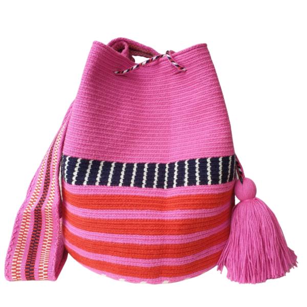 różowa neonowa wakacyjna torebka